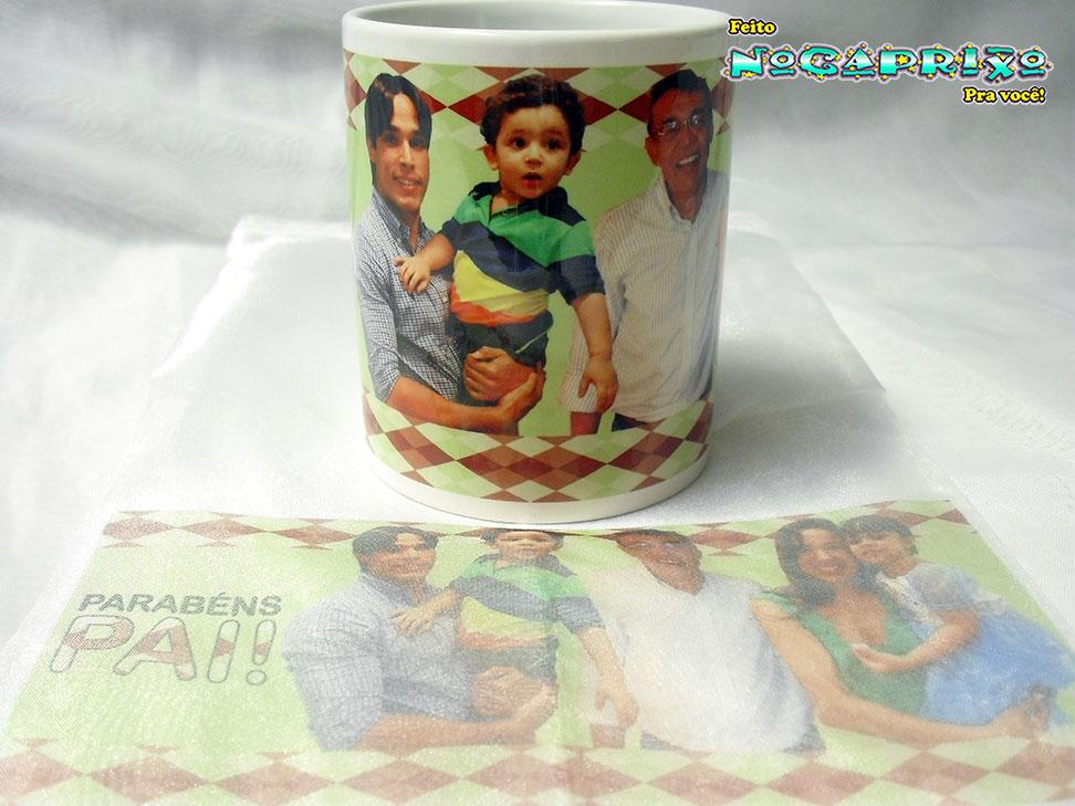 Caneca + Saquinho Persoanlizado - Presente dia dos Pais