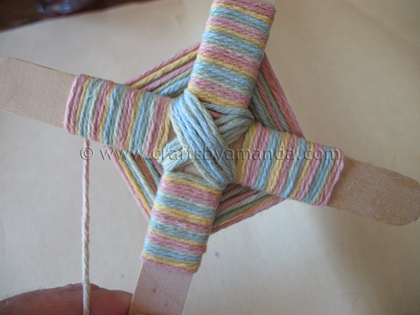 Knitting Patterns For Popsicle Wool : Camp Crafts: Gods Eye - Crafts by Amanda