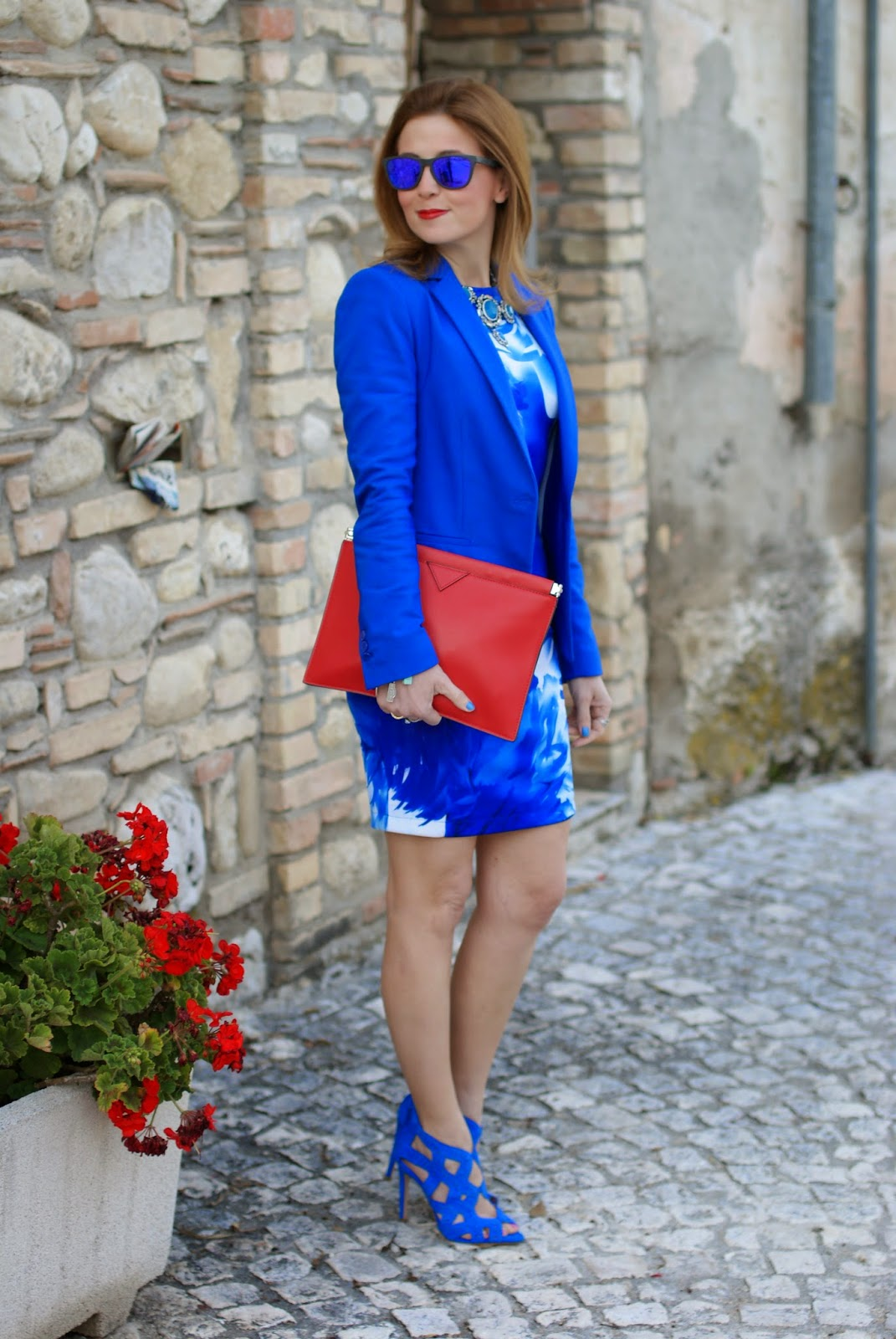 Blackfive blue dress, Zara blue sandals, blue monochrome outfit, Fashion and Cookies, fashion blogger