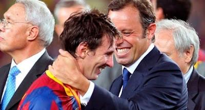 "Rosell: ""Messi si celebra todos los goles"""