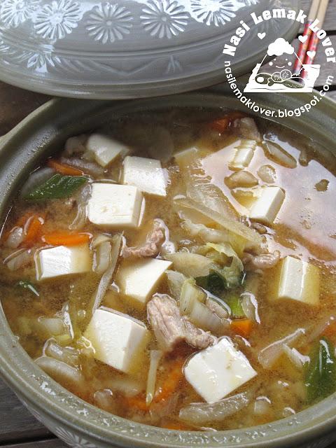 Nasi Lemak Lover: Tonjiru (Japanese Pork Miso Soup) 豬肉味噌湯 ...