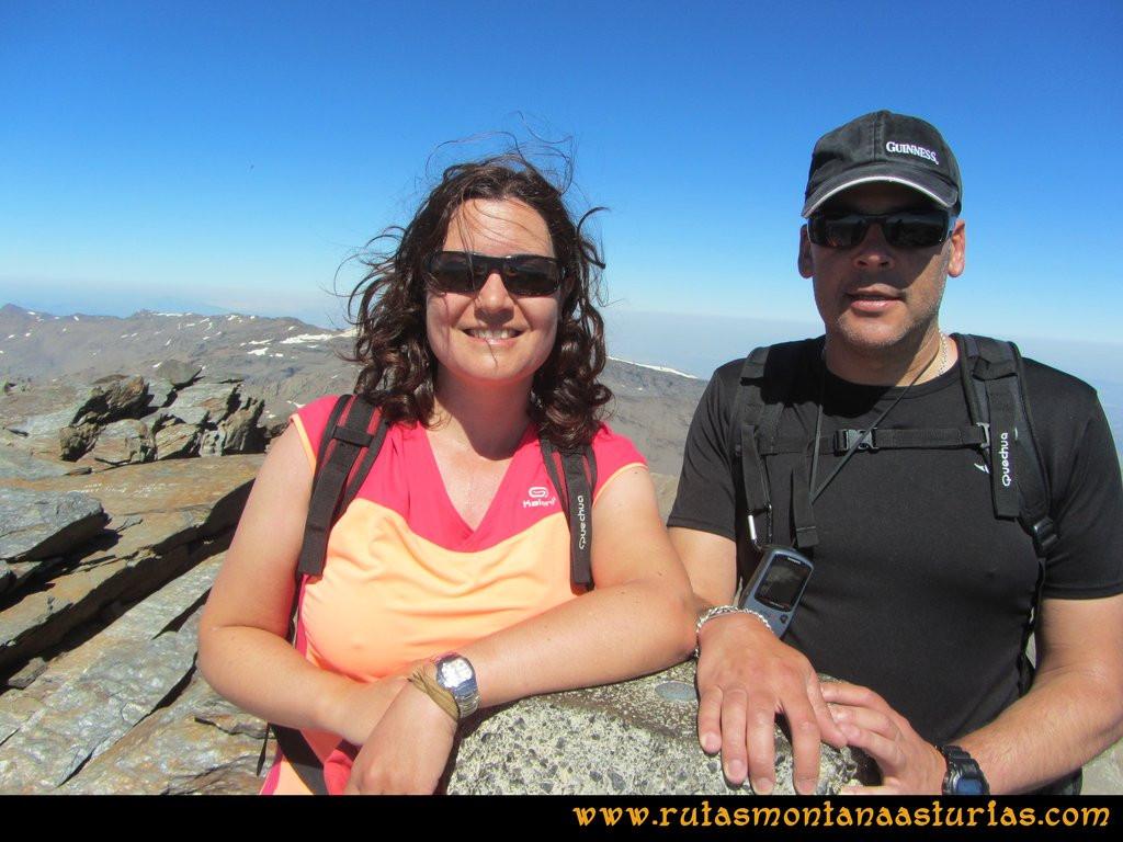 Ruta Posiciones del Veleta - Mulhacén: Cima del Mulhacén