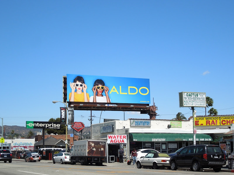 Aldo eyewear billboard