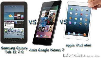 Galaxy Tab II 7.0 vs Nexus 7 vs iPad Mini