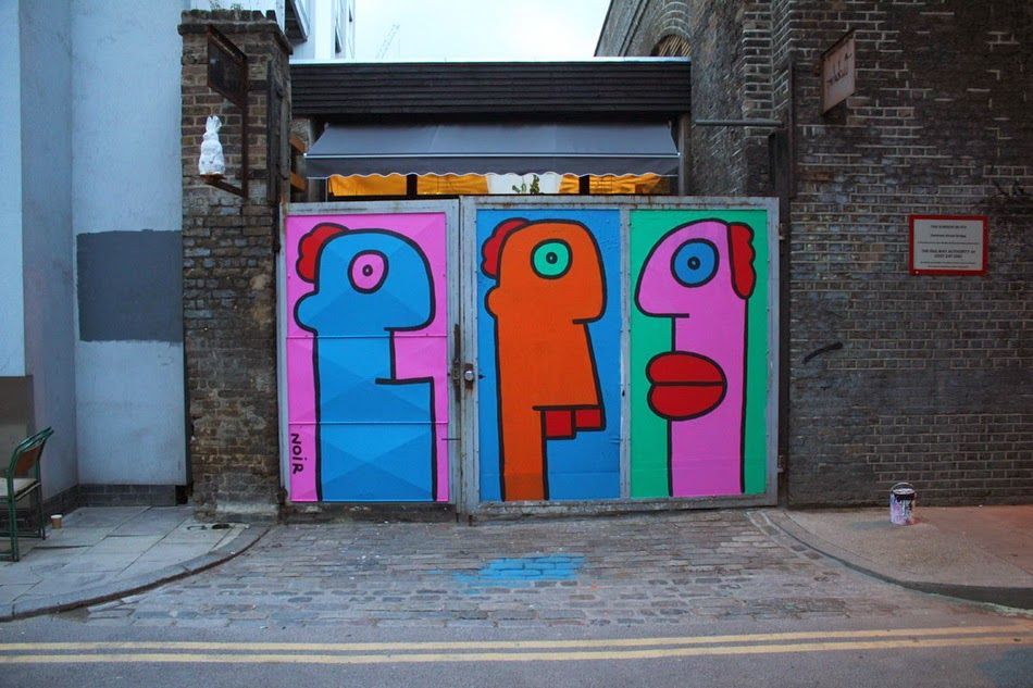 Thierry Noir is a French artist who was one of the very pioneers of street art, especially in Europe. Living in a squat in Berlin in 80s and 90s, he was one of the first to start painting the Berlin wall. 1