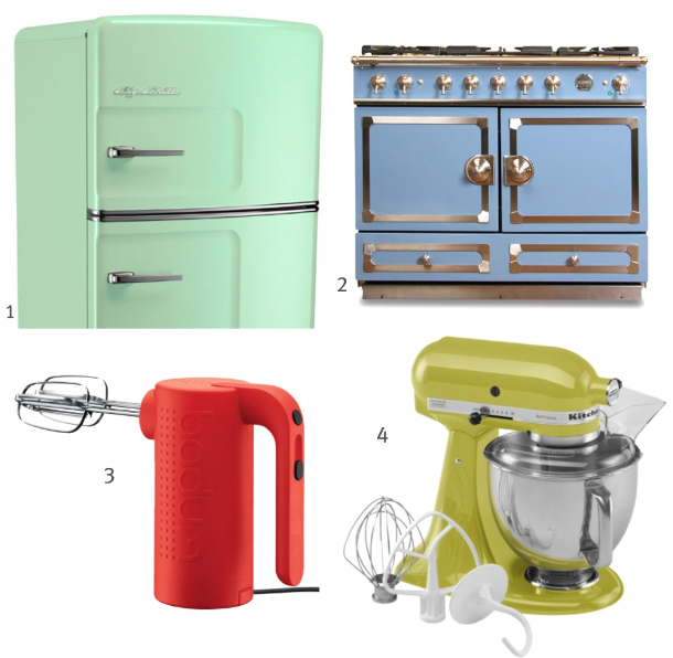 Yellow Small Kitchen Appliances: Claire Bock: Color Story Monday: Colored Appliances