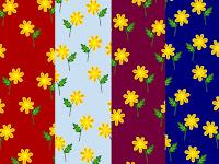 Hintergrundmuster mit gelben Blumen