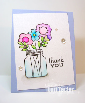 Floral Thank You card-designed by Lori Tecler/Inking Aloud-stamps from Paper Smooches