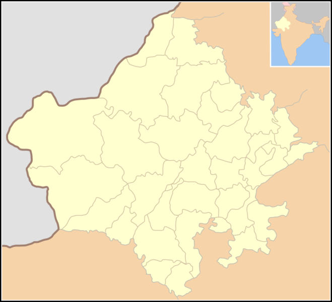 Rajasthan map with district