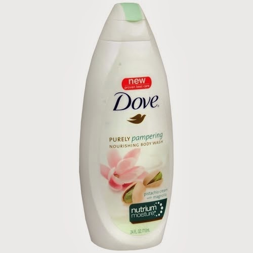 Dove Purely Pampering Body Wash, Pistachio Cream with Magnolia.