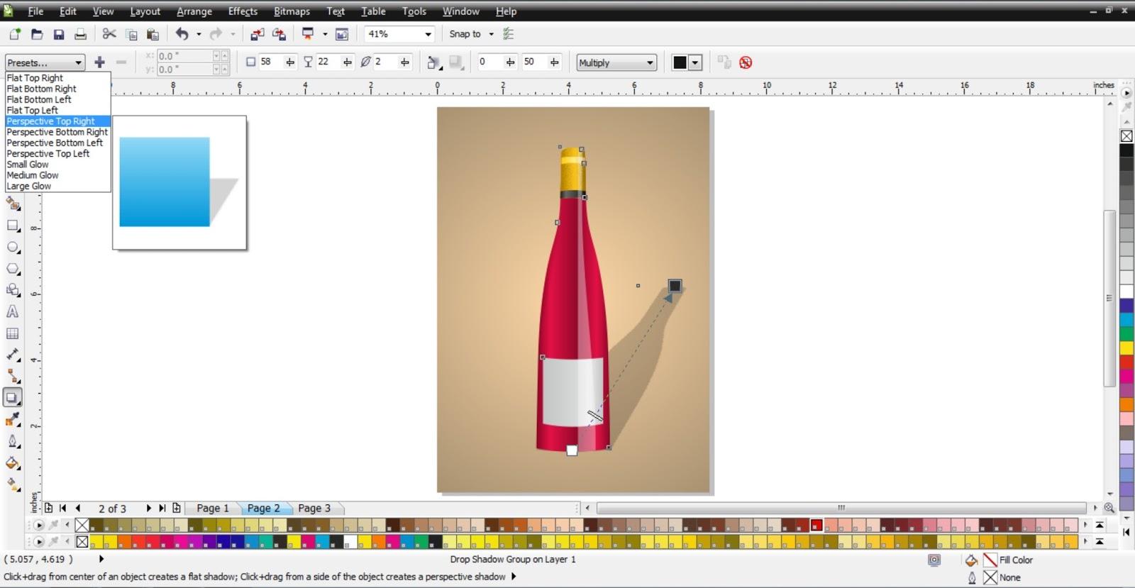 how to draw wine bottle in coreldraw