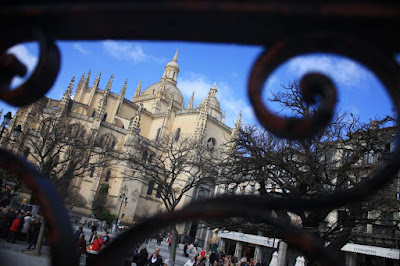Gothic cathedral in Segovia