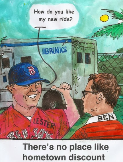 Jon Lester Hometown Discount Larry Johnson Cartoon The Sports Hatch