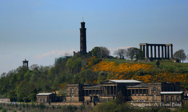 Monuments on Calton Hill Edinburgh