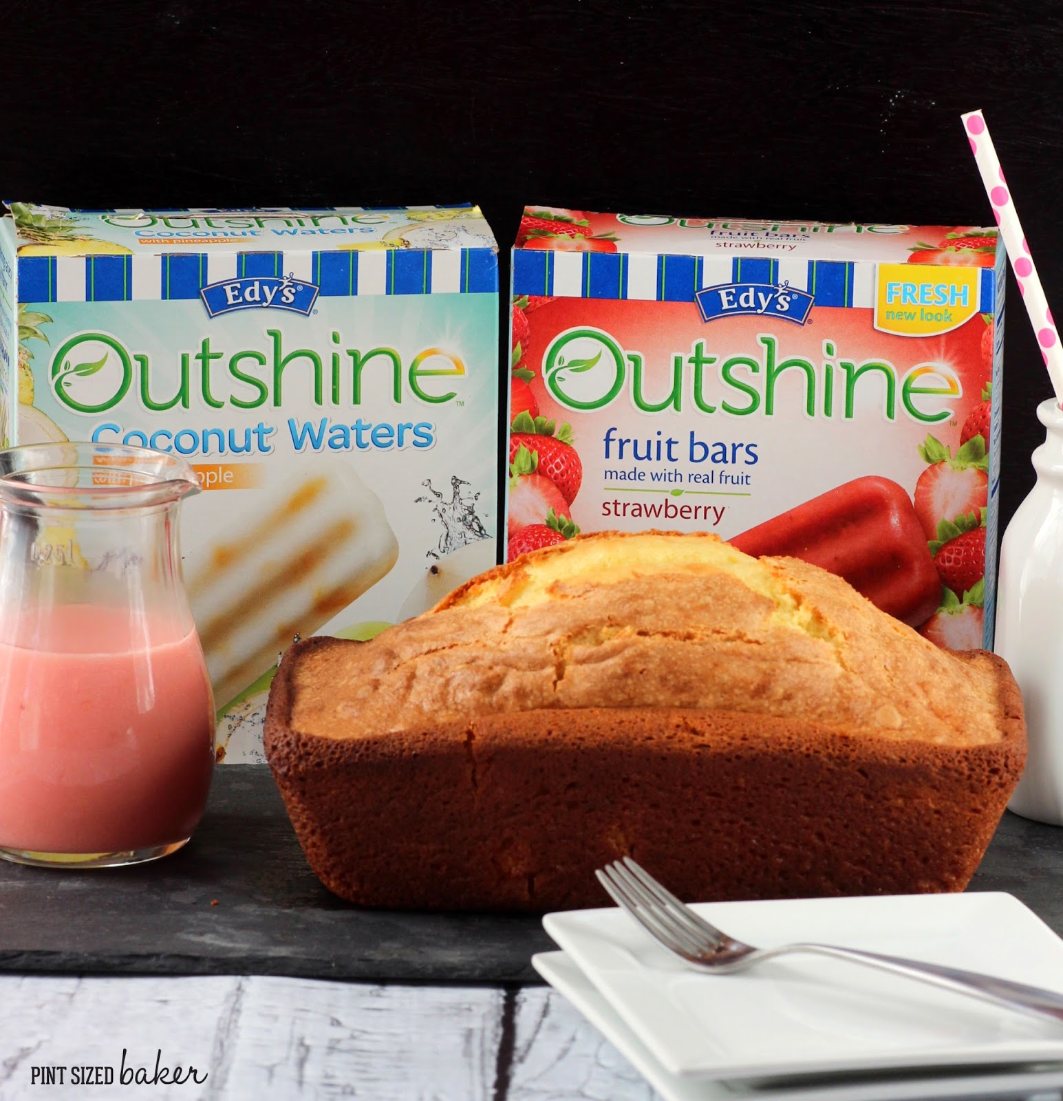 Brighten up your pound cake with #outshine Fruit Bars