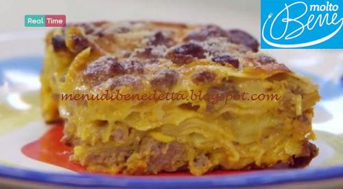 Lasagna zucca e salsiccia ricetta Parodi per Molto Bene