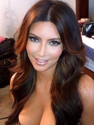 Kardashian on Kim Kardashian S Lusciously Long Layers