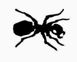 Ant tattoo stencil