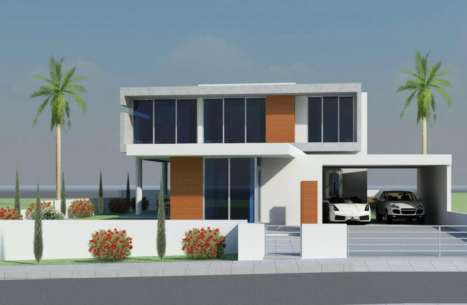 Modern beautiful home exterior design ideas latest for Home outside design images
