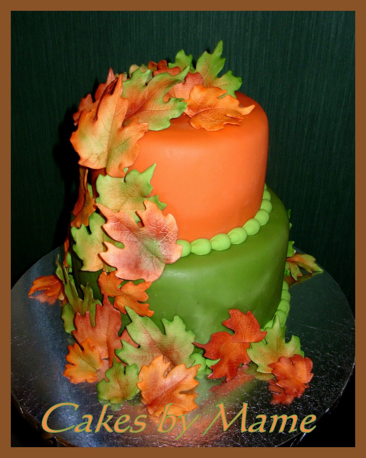 Sugar teachers cake decorating and sugar art tutorials for Autumn cake decoration