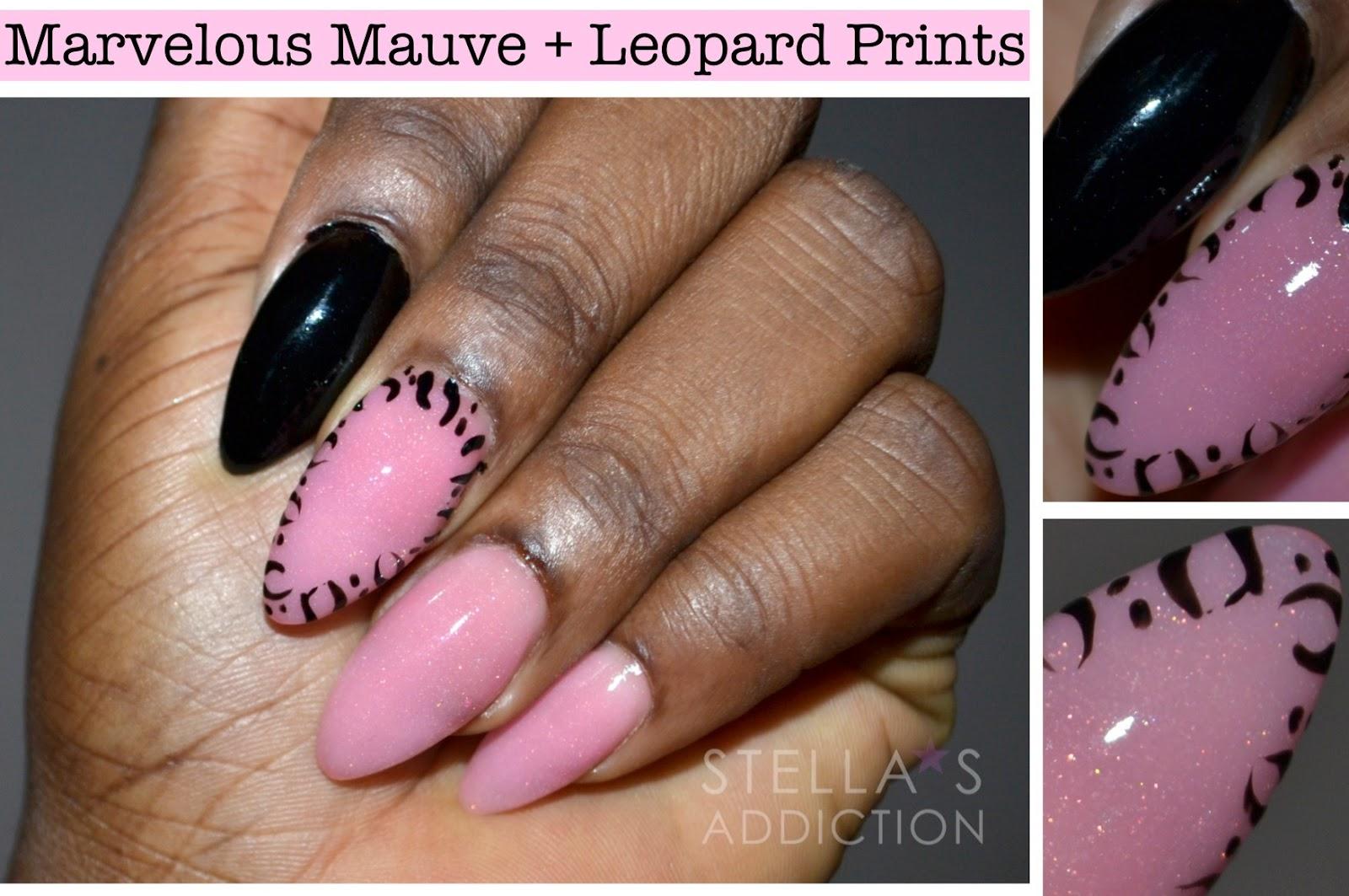 NOTD | Marvelous Mauve + Leopard Print Nail Art - Stella\'s Addiction