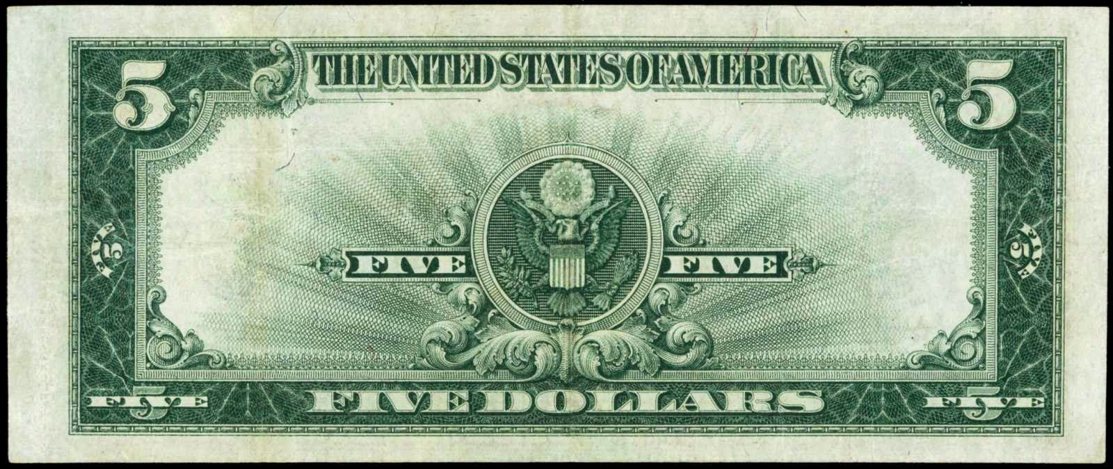US Paper Money Large Size 1923 Five Dollar Silver Certificate