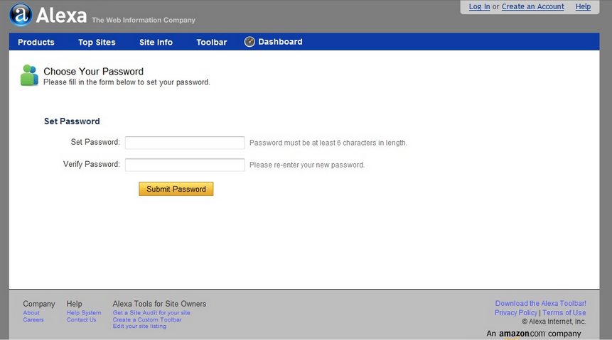 Tentukan Password sobat