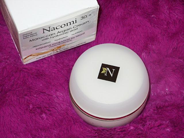 Recenzja: Arganowy krem na noc z kwasem hialuronowym, Nacomi