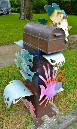 Sculptural Mailbox art by Dino Kotopoulis photo credit to Jeffery Rosenfield