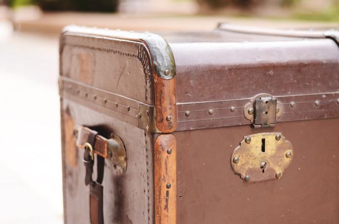 Y tan flamenca la maleta vintage alquiler de objetos - Objetos vintage ...
