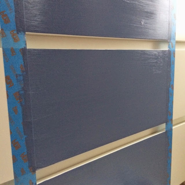 Easy DIY Painted Stripe - Furniture Makeover