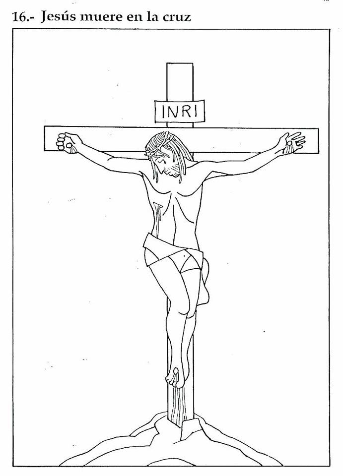 Muerte de Jesús colorear