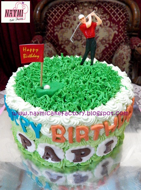 Naymi Cake Factory Ombre Tart Green Tema Golf for Mas Peter Dads