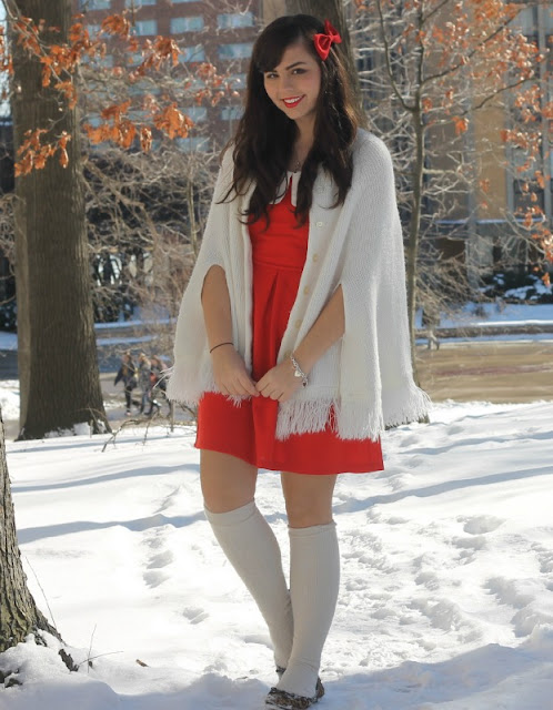 Capes & Red Dresses-A Chic Fashion Post
