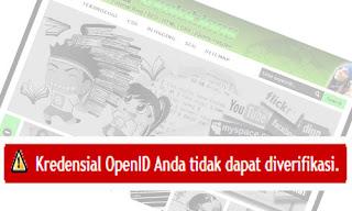 Kredensial OpenID Anda Tidak Dapat di Verifikasi