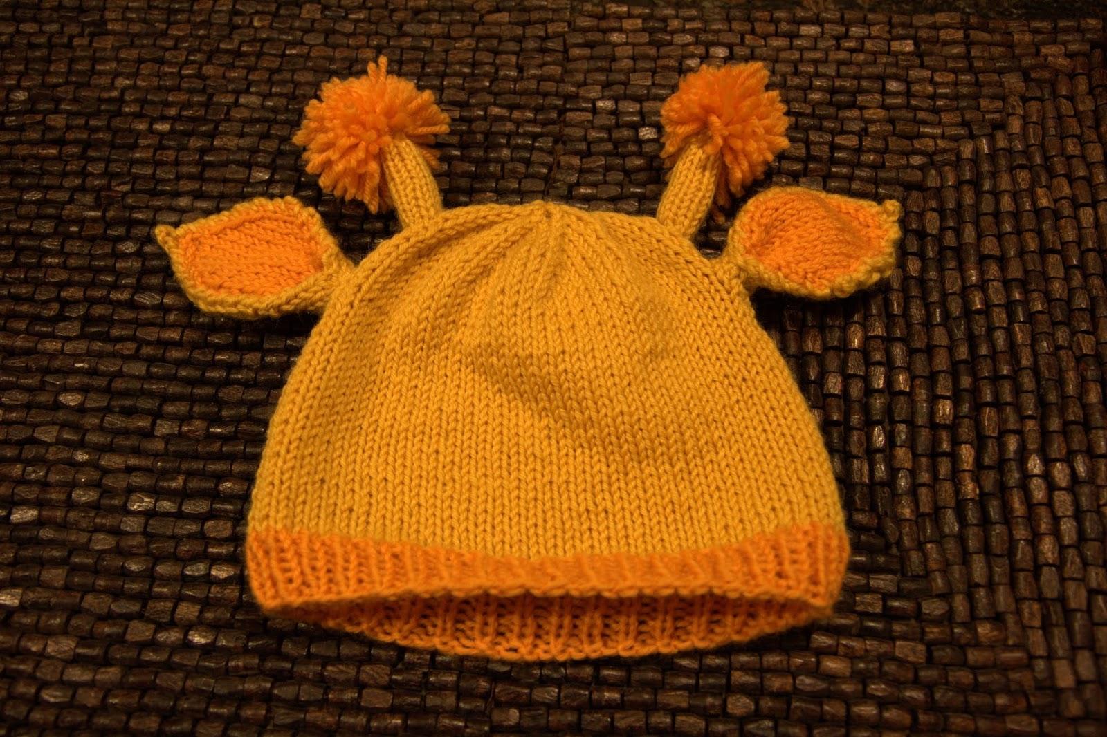 Think Crafty Thoughts: Knitting Pattern: Little Giraffe Hat