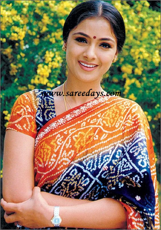 Latest saree designs simran in blue and orange bandini saree simran in blue and orange bandini saree thecheapjerseys Images