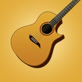 Acoustic Guitar Graphic Stock