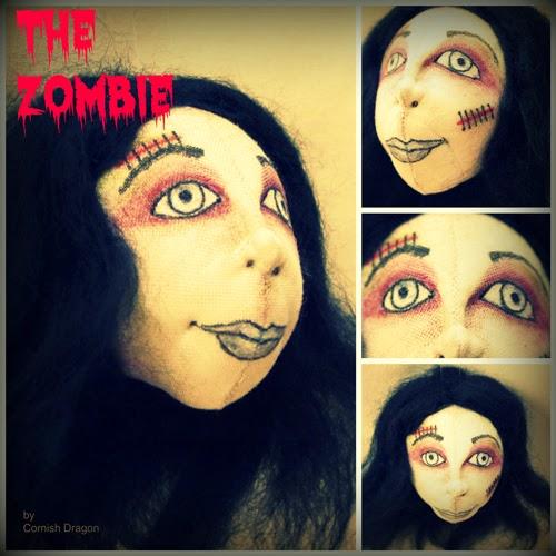 zombie halloween cloth art doll decoration