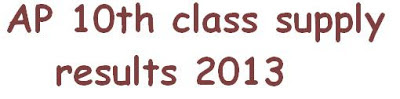 ap 10th class supplementary results 2013