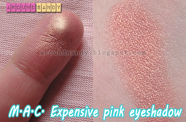 MAC cosmetics expensive pink eyeshadow sombra review swatches dónde comprar opinión