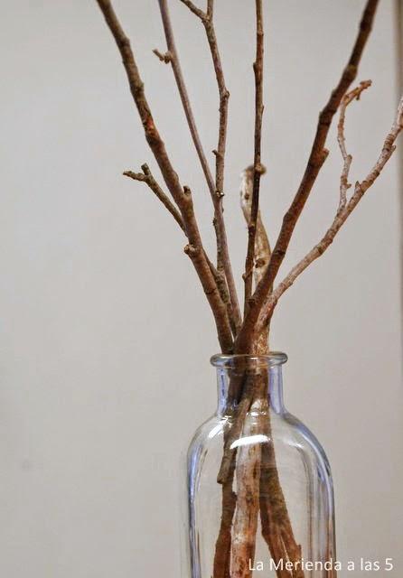 La merienda a las cinco diy decora con ramas - Ramas de arbol para decoracion ...