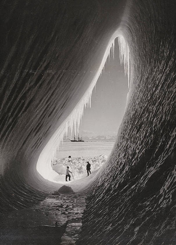 These 15 Incredibly Rare Historical Photos Will Leave You Speechless - A grotto in an iceberg seen during the British Antarctic Expedition, January 5, 1911.