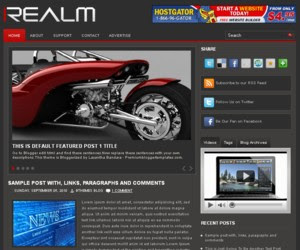 Realm Blogger Template
