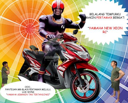kamen rider Black and Yamaha New Xeon RC