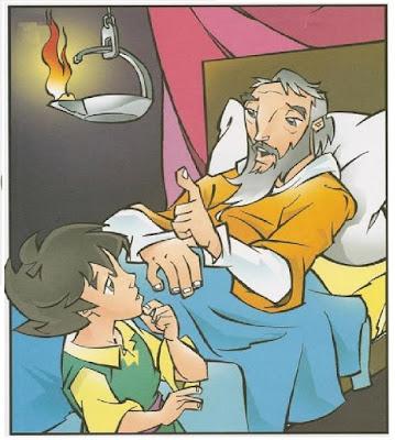 O menino Samuel e o sacerdote Eli