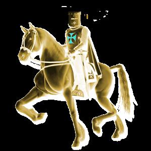Cavaliere templare a cavallo