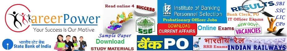 Career Power Coaching : IBPS Bank PO: SSC: Railway : Delhi : Patna