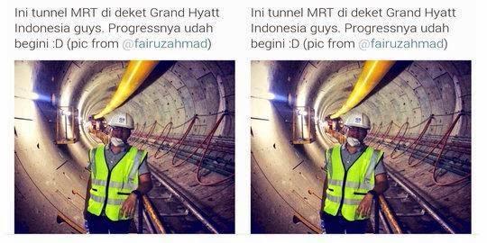 Wow! Foto Terowongan MRT Hebohkan Penduduk Jakarta
