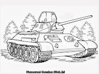 Mewarnai Gambar Mobil Tank Leopard Jerman
